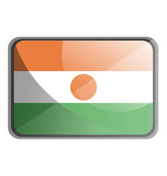 niger flag on white background vector image