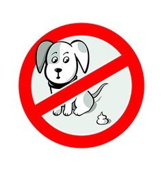 No pooh sign vector image