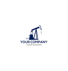 Oil drilling rig logo design vector