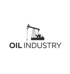 oil industry logo tower oil exploration vector image