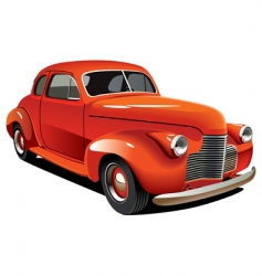 Old-fashioned hot rod vector