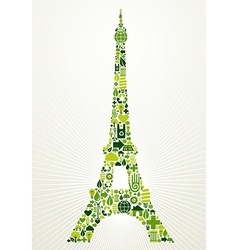 Paris go green concept vector