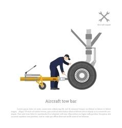 Repair and maintenance of airplane vector