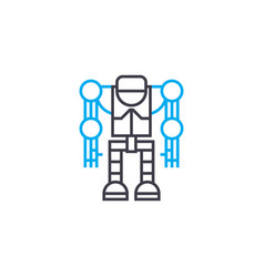 robotics linear icon concept robotics line vector image
