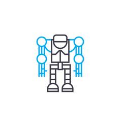 robotics linear icon concept robotics line vector image