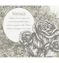Roses with vintage background vector