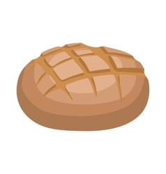 Rye bread icon cartoon style vector image