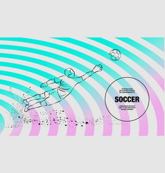 Save from soccer goalkeeper outline of vector