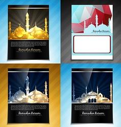 Set attractive brochure design eid fes vector