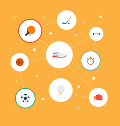 set of activity icons flat style symbols with vector image