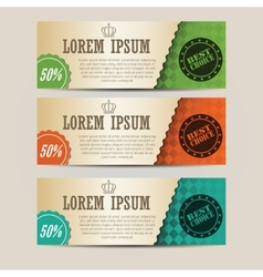 Set of retro horizontal banners with place for vector image