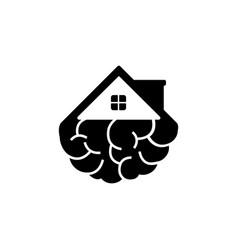 smart home idea logo design template vector image