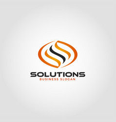 Solution is an energy logo with letter s concept vector