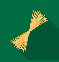Spaghetti pasta icon in flate style isolated on vector