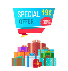 Special offer 19 99 exclusive proposal sale vector