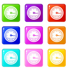 Speedometer set 9 vector