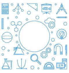 Stem minimal blue frame education outline vector