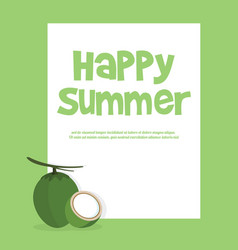 summer holiday and summer camp vector image