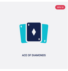 two color ace diamonds icon from entertainment vector image