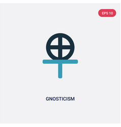 Two color gnosticism icon from religion concept vector