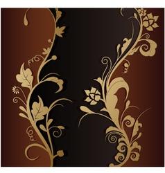 vintage retro floral background vector image