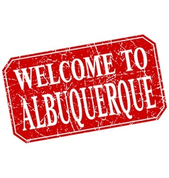 Welcome to Albuquerque red square grunge stamp vector