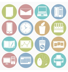 white icons office vector image