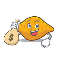 With money bag conchiglie pasta character cartoon vector