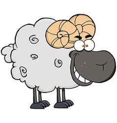 Black Ram Cartoon Mascot Character vector image vector image