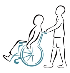 Carrying the patient vector image
