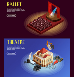 opera and ballet banners vector image