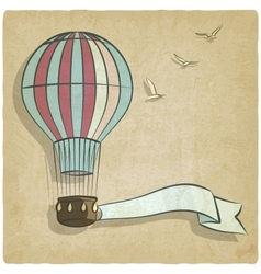 retro background with aerostat vector image vector image