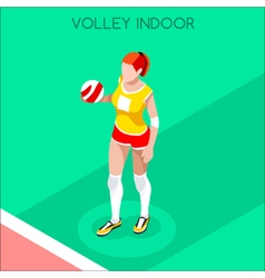 Volleyball 2016 summer games 3d isometric vector