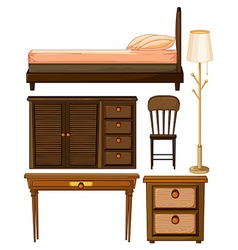 Wooden furniture in classic design vector image vector image