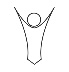 Abstract person icon vector