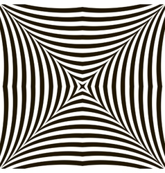 Black and White Geometric Shimmering Optical vector image vector image
