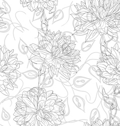 floral sketches wallpaper vector image vector image