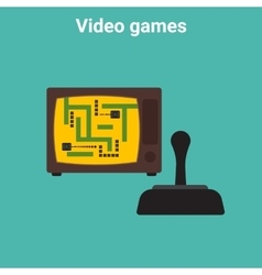 Retro video game vector image