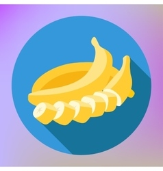 Sliced banana flat long shadow vector image vector image