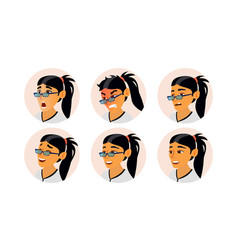 asian woman avatar asiatic woman face vector image