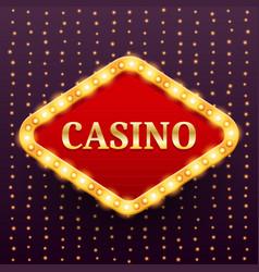 casino luxury retro banner template vector image vector image