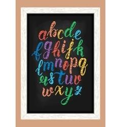 Chalk colorful hand drawn latin calligraphy brush vector image