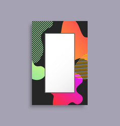 decorated coloful photo frame vector image vector image