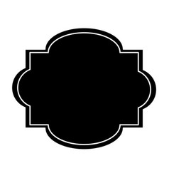 label sticker decoration stamp pictogram vector image vector image