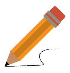 pencil school utensil wood vector image