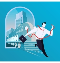 Business risk concept in flat vector image
