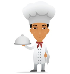 chef with main course vector image vector image