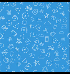 Doodle seamless pattern vector