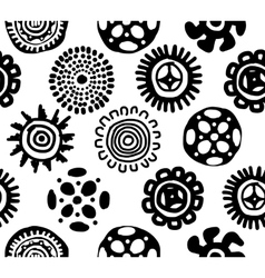 Ethnic handmade ornament seamless pattern for vector image vector image