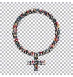 female symbol isometrick people 3d vector image vector image
